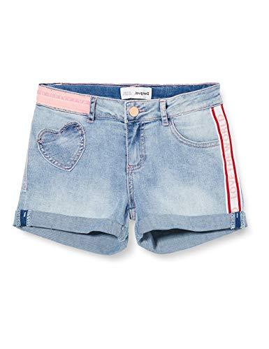 Desigual Denim_Rodriguez Pantalones Cortos, Azul (Jeans Claro 5007), 104 (Talla del Fabricante:...
