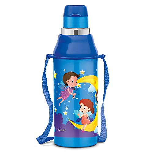 Milton Kool Steelight 404 Insulated School Kids Bottle with Inner Steel, 420 ml, Blue