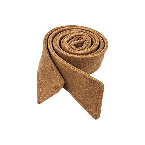 Anjing 5cm Width Artificial Wool Woman Ladies Waist belt for Coat Dress Camel