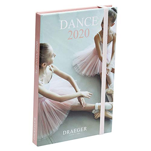 Draeger - Pratik Danse 2020 Pocket Diary - Mini Dance Diary 2020 Illustrated - Cover rigida - Chiusura elastica - Segnalibro in raso - Formato 9,5 x 14,5 x 14,5 cm