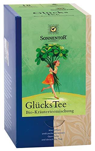 Sonnentor Kräutertee 'Glückstee' 18 Beutel (bio, vegan) Frühstückstee Minze