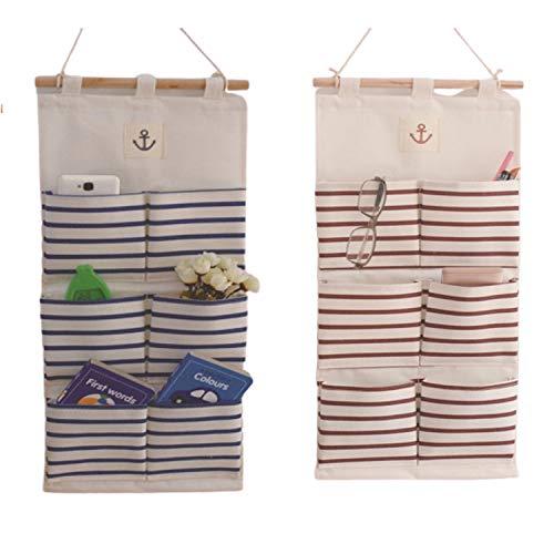 ZMYY - Bolsa de almacenamiento para colgar en la pared, 2 unidades, para dormitorio, estudio, baño, cocina, oficina, fácil de usar y también ahorra espacio