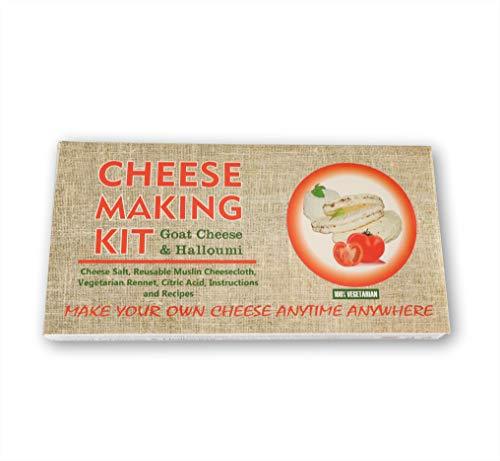 Halloumi y cabra - Kit de elaboración de quesos de cabra, gran regalo para todas las ocasiones, contiene cuajo