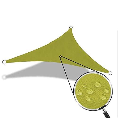 Pleasur Party-Sonnenschutz-Markise, Dreieck-Sonnenschutz, wasserabweisend, für Camping, Zelt, Plane, wasserdicht, Sonnensegel für Strand, Picknick, 3 Farben, gelbgrün,...