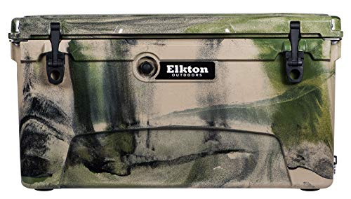 Elkton Outdoors 75-Quart Ice Chest - Heavy Duty, High Performance Commercial Grade Insulated Cooler (Camo)