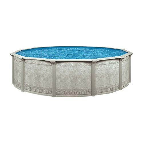 Cornelius Khaki Venetian 18ft x 52in Backyard Above Ground Swimming Pool Package