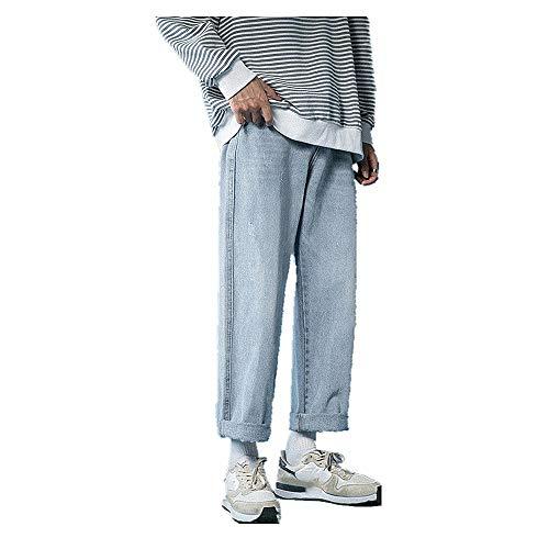 N\P Pantalones vaqueros rectos de ajuste suelto para hombre
