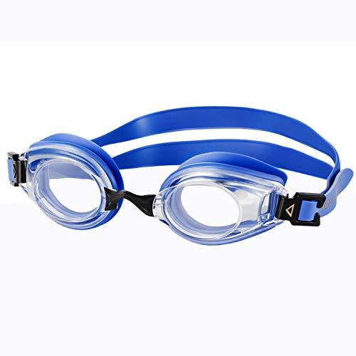 Aqua Speed optische Schwimmbrille mit Sehstärke - Dioptrien für Freizeitschwimmen für Erwachsene - linkes & rechtes Glas unterschiedlich nach Ihren Wünschen wählbar - blau - ungetönt
