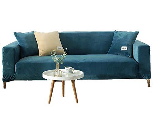 BLACK ELL Cubierta para SofáS Acolchado,Antideslizante,Funda de sofá de Alta Elasticidad, Funda de Tela Universal con Todo Incluido-B_145-185cm