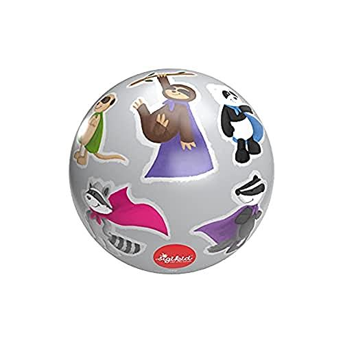 SIGIKID 42412 Kautschuk-Ball Helden PlayQ Mädchen und Jungen Babyspielzeug empfohlen ab 1 Jahr grau