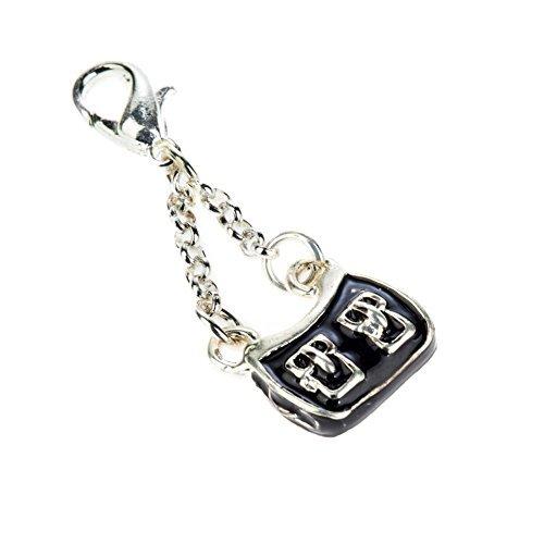 Super de mujer bolso de mano con pinza clip On colgante molde para abalorios pulseras colour negro plata editarla bolsillos VAGA©