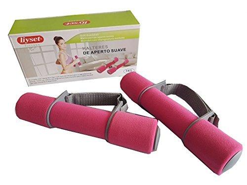 Mancuerna blanda de 1 kilogramo ideal para aeróbic, pesas con correa de mano regulable, pesas para fitness, mancuernas de entrenamiento.