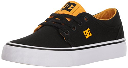 DC Boys' Trase TX Skate Shoe, Black/Yellow, 13 M M US Little Kid