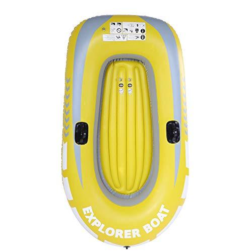 SANON Bote Inflable de PVC Espesar Canoa Inflable Bote de Aire de Remo para 2 Personas para Pescar Buceo a La Deriva