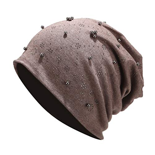 Frauen Männer Hemming Hat Beanie Cap Perlen Perle Stretch Wrap Cap Ohrenschützer Hüte Watch Caps