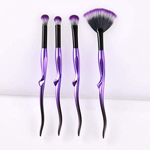 Doux fibre Fan Brush Violet Noir Teint Poudre Visage Contour fard à joues fard à paupières Maquillage Pinceaux Beauté Outils cosmétiques Kit aycpg