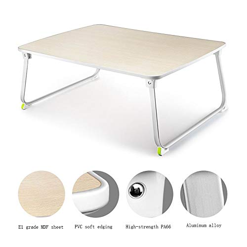 Folding table GCDW Esstisch, Zusammenklappbar, Studiertisch Im Bett, Aluminium Klapptisch, Umweltfreundlich Und Leicht, Tragbarer Picknicktisch, Laden Sie 60 Kg