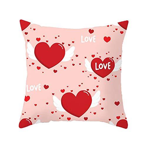 Janly Clearance Sale Funda de almohada, para el día de San Valentín, funda de almohada decorativa, funda de almohada creativa, para Navidad, hogar y jardín