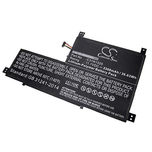 vhbw Akku schwarz passend für Asus Transformer Book T302, T302CA, T302CHI-2C Laptop, Notebook (3300mAh, 11.1V, Li-Polymer)
