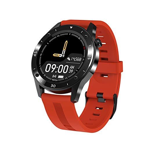 XUEXIU Pantalla Táctil Completa Reloj Inteligente Ritmo Cardíaco Medidor De Presión Arterial Paso Llamada Información Recordatorio Deportes Pulsera (Color : Orange)