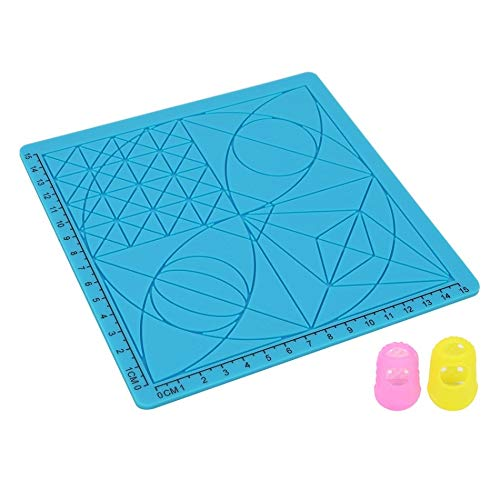 SRY-Holster HH-DYHC, 3D Printing Pen Design Mat Soft Silicone Copy Templates with Basic Shapes Extra Silicone Finger Caps Great 3D Pen Drawing Tools (Color : Blue Type C)