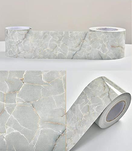 Qinghai - Cenefa de papel pintado impermeable, autoadhesiva, extraíble, para cocina, baño, salón, azulejos, 10 x 1000 cm
