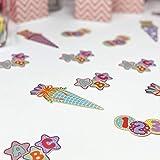 Oblique Unique® Zuckertüte Konfetti 12 Stk. Zuckertüten Schultüten Tisch Dekoration Streu Deko Schuleinführung Einschulung Schulanfang Jungen Mädchen - 2