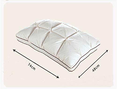yywl kussen 48 * 74cm Merk Ontwerp 3d Brood Witte Eend Down Veer Kussen Standaard Antibacteriële Elegant Huis Textiel