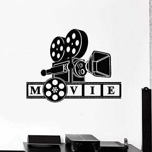 Wandaufkleber,Camera Filming Movie Lover Wall Decal Bedroom Decoration Cinematography Art Stickers Mural Vinyl Home Interial Stickers-42X54 Cm.