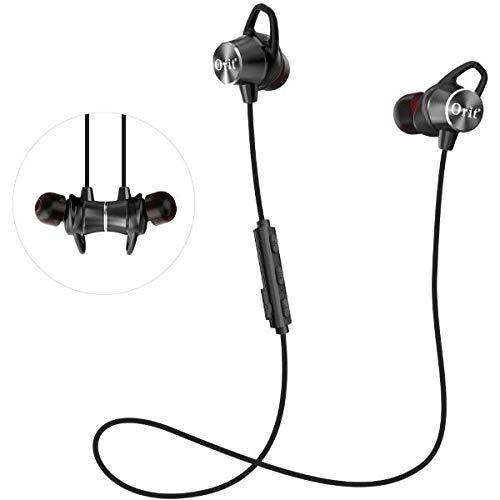 Auriculares Inalambricos Bluetooth,Auriculares Deporte Calidad de Sonido HiFi Cascos Bluetooth Magnéticos (8 Horas batería) Anti-Sudor CVC6.0 Reducción de Ruido Apto para xiaomi iPhone iPad mi Band