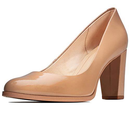 Clarks Kaylin Cara Damenpumps mit geschlossenem Zehenbereich, Beige - beige - Größe: 39.5 EU