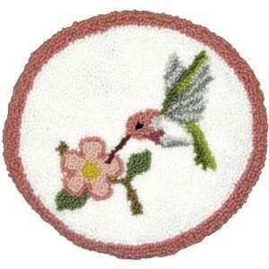 MCG Textiles Hummingbird Pillow Punch Needle Kit - 12 Inch