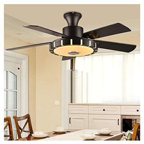 Led-plafondventilator voor muziek van bluetooth-fan, ultralijze, intelligente plafond, afstandsbediening, hout, fan licht, restaurant, woonkamer ventilator, plafondventilator met lamp