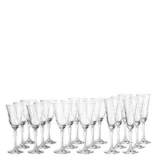 Leonardo Volterra Kelch-Glas Set, Weißwein-, Rotwein- und Sekt-Gläser, spülmaschinengeeignete Kelch-Gläser, 18er Set, 032820