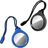 Steinweber AirTag Schutz-Hülle Anhänger 2er Set - Protection Hülle, Staubschutz & Schutz vor Kratzern mit Band, für H&, Haustier & Tasche - 2 Stück