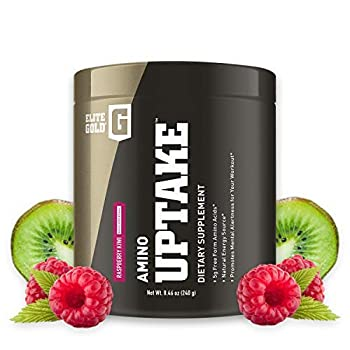 Complete Nutrition Elite Gold Amino Uptake Raspberry Kiwi Amino Acid Supplement Increase Energy Support Muscle Recovery Beta Alanine L Citrulline 8.46 oz Tub  30 Servings