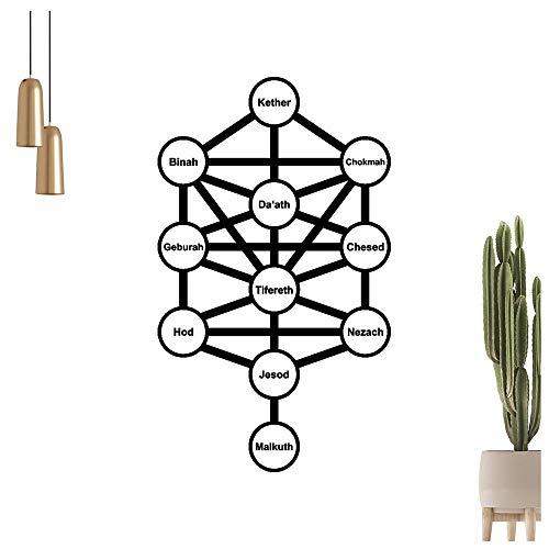 Adhesivo decorativo para pared con diseño de árbol de la vida en 6 tamaños