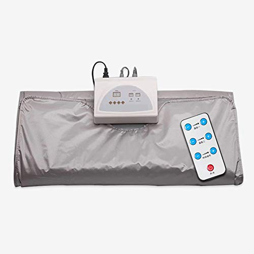 XALO Infrared Sauna Blanket, 180 * 80Cm Portable Personal Slimming Blanket for Weight Loss And Detox Professional Fitness Machine for Beauty Relieve Fatigue, Timing, Grey