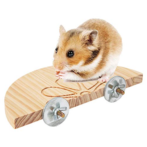 Plataforma de esquina de madera, plataforma de madera para animales pequeños de ratón hámster, plataforma de soporte de juguete para jaula de chinchilla para mascotas(3#)