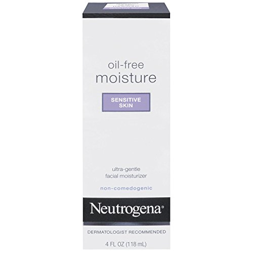 Neutrogena Oil Free Moisture Daily Hydrating Facial Moisturizer & Neck Cream with Glycerin - Fast Absorbing Ultra Gentle Lightweight Face Lotion & Sensitive Skin Face Moisturizer, 4 fl. oz (Pack of 3)