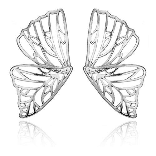 AQUALITYS Pendiente Hueco Grande con Forma de Mariposa para Mujer, Pendientes con Colgante de ala de...