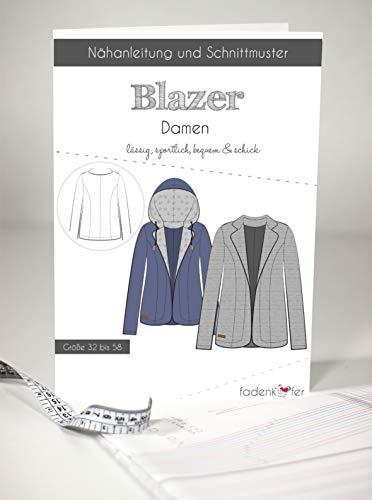 Schnittmuster und Nähanleitung - Damen Blazer
