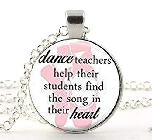 Colgante para profesor de danza, regalo para profesor de baile, regalo de baile, regalo para baile, cita hecha a mano, collar de mejor amigo