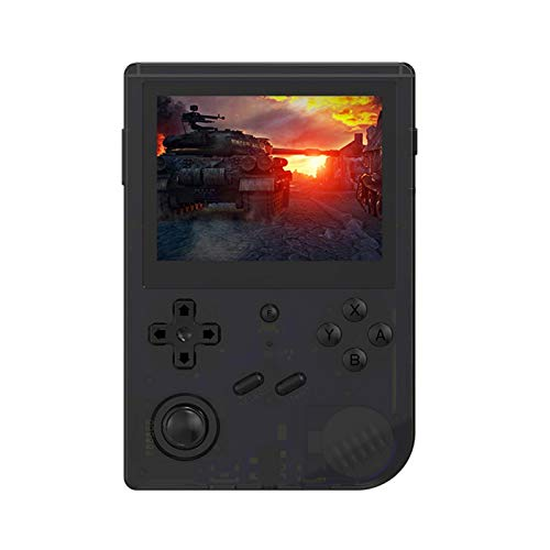 RG351V Handheld Spielkonsole,Retro Spielkonsole Open Source Linux-System mit 32G TF Card Integrierte 5000 Classic-Spiele,3.5 Zoll IPS 3900 mAh Akku Bildschirm Portable Spielkonsole (Englische Version)