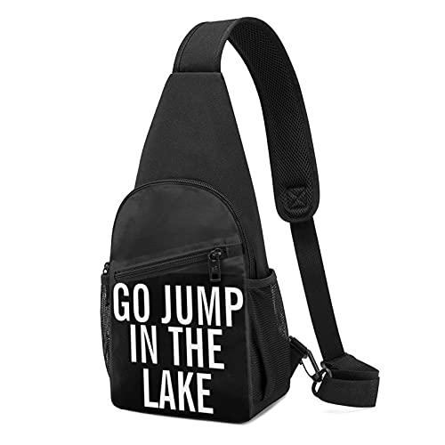 fin de semana ir salto en el lago Bolsa Multi-bolsillo Senderismo Daypack Sling Bag Ajustable Pecho Mujer Hombre Bolsa de Hombro