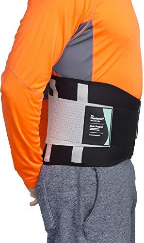 Rückenstütze aus Neopren, stützt Lendenwirbelbereich, lindert Rückenschmerzen, verstellbar Kompression, geeignet für Männer und Frauen, zertifiziert von The Backcare Association (L)