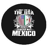 WEIPING Puedo Vivir en los Estados Unidos, Pero mi Historia comenzó en México Manta Redonda Envolvente como Manta de Aire Acondicionado Sofá y Manta de Cama para niños y Adultos