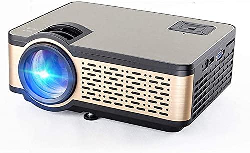 WEDF Proyector para Exteriores, proyector de películas HD Compatible con 1080P, proyector de Cine en casa de 4000 lúmenes con Altavoz de Alta fidelidad, Compatible con HDMI, USB