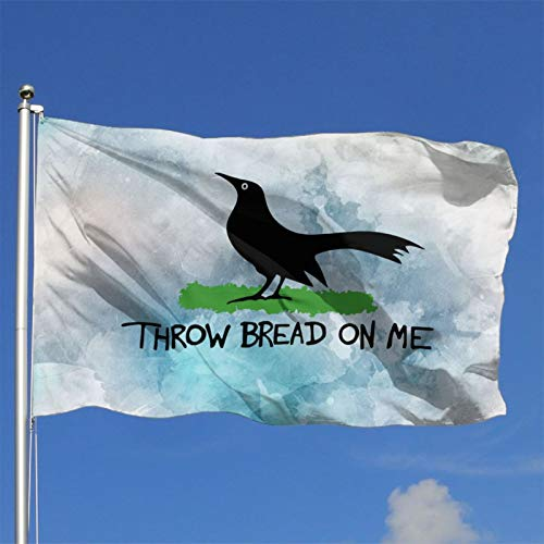 Throw Bread On Me USA Flag Garden Tag Outdoor Indoor Outdoor Yard Decoration Banner 4x6 Ft
