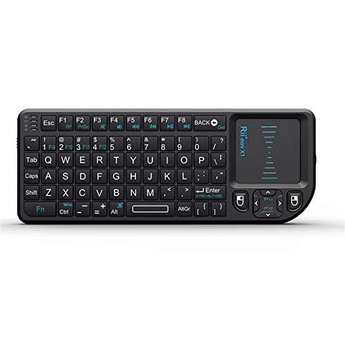 CCFCF Mini Teclado sin Hilos, i8X portátil de 2,4 GHz Teclado inalámbrico con touchpad Mouse, retroiluminada LED, Recargable Li-Ion